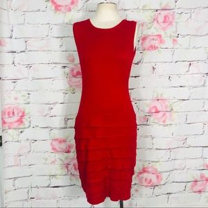 Calvin Klein sleeveless tiered sweater dress